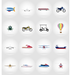 transport flat icons 77 vector image