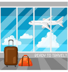 Travel concept at the airport vector