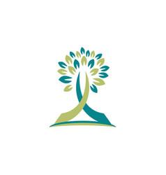 tree religious logo symbol icon design concept vector image