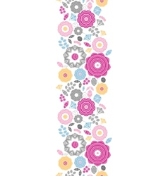 Vibrant floral scaterred vertical seamless pattern vector
