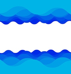 Water wave design vector image