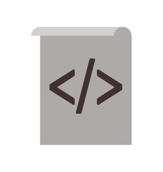 Web coding icon vector
