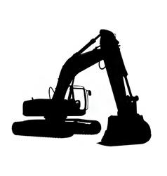 excavator silhouette vector image