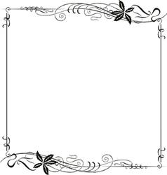 Frame Ornate Art Nouveau vector image vector image