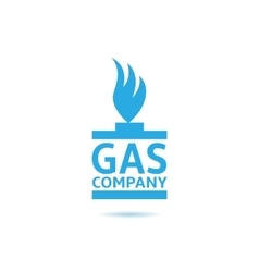 Gas company vector image