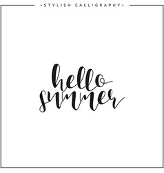 Hello summer Time of year Calligraphy phrase in vector image vector image