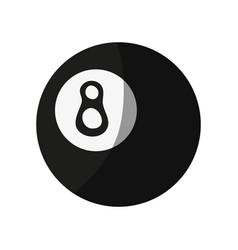 Pool eight ball icon image vector