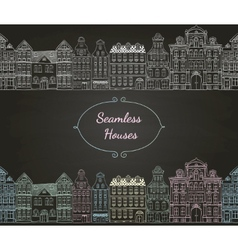 Seamless Old Styled Houses vector image vector image