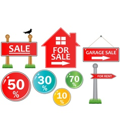for sale signs vector image