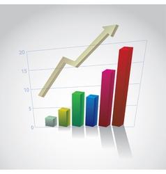 Rising Bar Graph vector image vector image