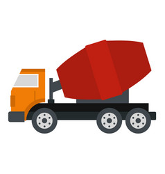 truck concrete mixer icon isolated vector image vector image
