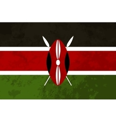 True proportions Kenya flag with texture vector image