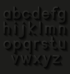 Decorative alphabet Set of letters with shadow vector image vector image