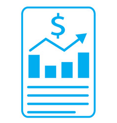 financial report icon on white background vector image vector image