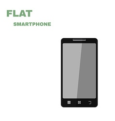 Flat Smartphone isolated on white vector image