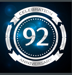 ninety two years anniversary celebration with vector image