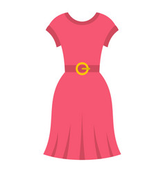 pink dress icon isolated vector image vector image
