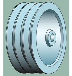 Pulley vector image vector image