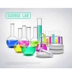 Research Equipment Liquids Composition vector image