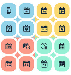 Set of simple plan icons vector