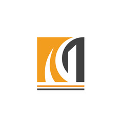 square letter g company logo vector image