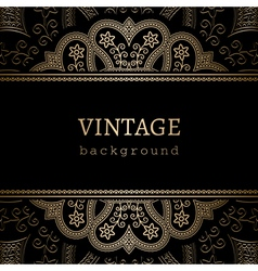 Vintage gold ornamental backround vector image