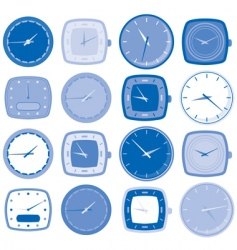 watch face icons vector image vector image