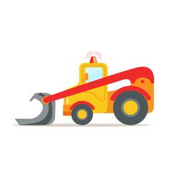 yellow bulldozer construction machinery equipment vector image