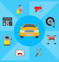 car service elements vector image vector image