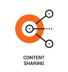 content sharing icon vector image