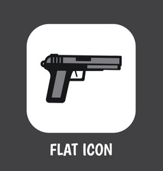 of safety symbol on weapon vector image