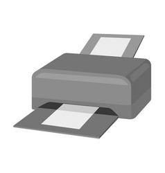 printer icon in monochrome style isolated on white vector image