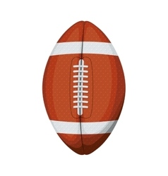 silhouette color with football ball vector image vector image