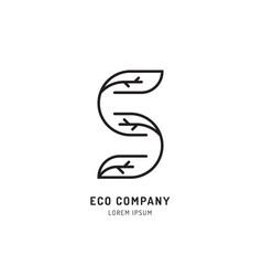 tree holistic eco logo vector image