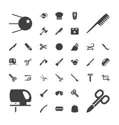 37 cut icons vector