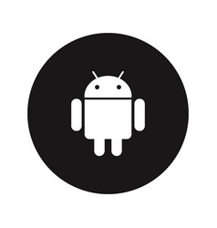 android logo icon vector image