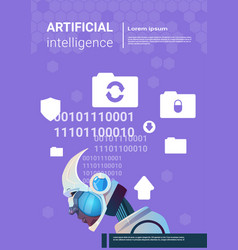 Artificial intelligence modern robot brain vector