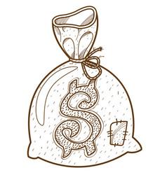 bag with money logo vintage bank wild west game vector image