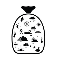 bag with weather idea concept vector image