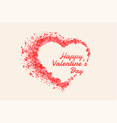 beautiful happy valentines day heart made with vector image