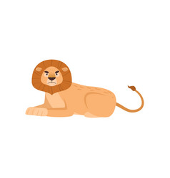 Big lion with nasty look lying in the royal pose vector