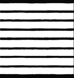 black striped pattern seamless hand drawn print vector image