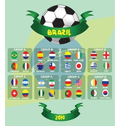 Brazil world cup design vector