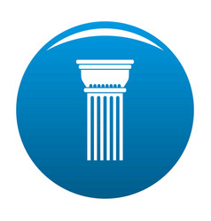 Building column icon blue vector