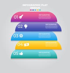 Business data visualization process chart vector