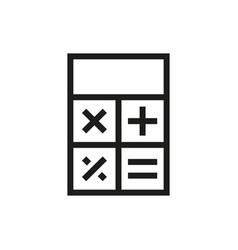 Calculator icon on white background vector