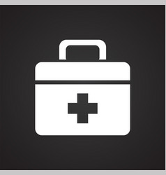 Camping first aid kit on black background for vector