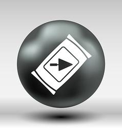 cement bag icon button logo symbol vector image