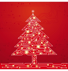 Christmas tree made of electronics elements vect vector