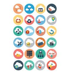 Cloud Computing Flat Icons 3 vector